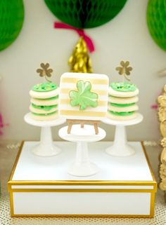 """St. Patricks Day Cookies from a """"Stay Golden"""" St. Patrick's Day Party on Kara's Party Ideas   KarasPartyIdeas.com (17)"""