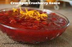 Crockpot cranberry sauce, because what else am I going to do with fresh cranberries that I randomly bought