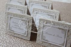 Lace Place cards / Name cards by DreamMakersInvites on Etsy