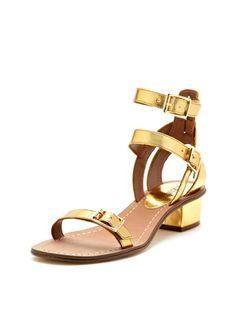 Lucette Block Heel Strappy Sandal by Renvy at Gilt