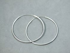 925 Sterling Silver Jewelry Square Tube Traditional Endless Hoop Earrings