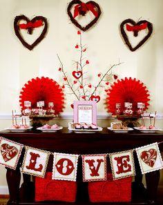 Ideias de decoração para o Dia dos Namorados! #HappyValentine'sDay