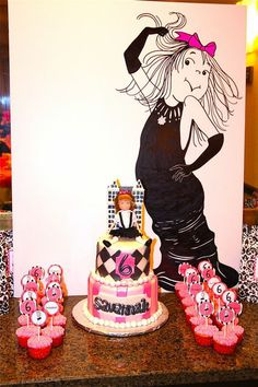 Eloise cake and backdrop