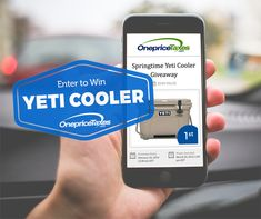 Springtime YETI Cooler Giveaway. http://giveaway.onepricetaxes.com/giveaways/yeti-cooler/?lucky=3181