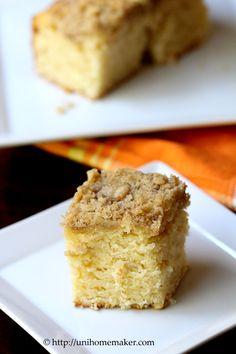 Lemon Mascarpone Coffee Cake