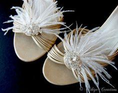 Bridal Shoe Clips, Wedding Shoe Clips, Wedding Accessories - Fluttering Deco