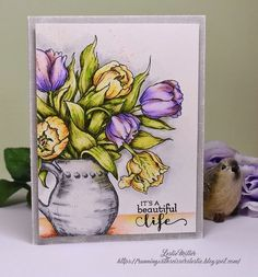 Running With Scissors...: Watercolored Tulips in Pitcher