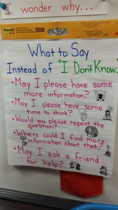 "What to say? Instead of ""I don't know"""