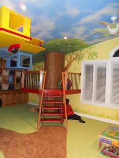 """A """"Treehouse"""" like this would be easy to make with a sturdy dining room table and some (very well) attached wooden rails... Toy Room Project traditional kids"""