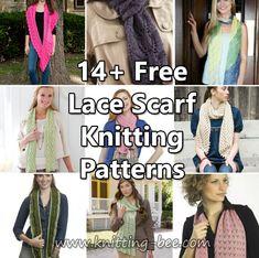 14+ Free Lace Scarf Knitting Patterns