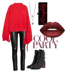 """""""Party Girl"""" by adln99 on Polyvore featuring H&M, Vetements, Christian Louboutin, Edie Parker and Lime Crime"""