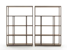 Open freestanding wooden bookcase BIBLO by Porada | design Tarcisio Colzani
