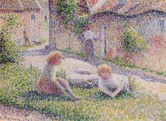 """""""Bambini in una fattoria"""", 1887. Camille Pissarro"""
