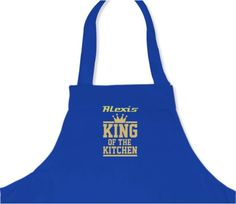 Tablier king of the Kitchen à personnaliser