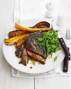 Most of this steak and roast squash recipe can be made in advance, making it an ideal dish to serve on busy weeknights.