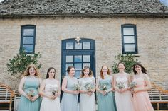 A Cotswold rustic wedding with mismatched bridesmaid dresses - A Cotswolds Wedding at Merriscourt For A relaxed rustic Wedding with Bride In Justin Alexander, mismatched bridesmaid dresses And Images From Kate Grey Photography