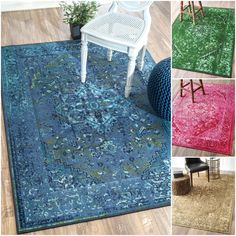 Vibrant overdyed rugs, these machine woven rugs are easy to clean and maintain. The Nylon blend fiber and low pile height make this rug easy to clean. The vibrant overdyed colors will bring a beautiful accent to any indoor space.