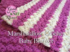 [Video Tutorial] Striped Marshmallow Crochet Baby Blanket ༺✿ƬⱤღ https://www.pinterest.com/teretegui/✿༻