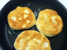 Newfoundland Toutons Recipe - Food.com - 136412     Saw these made on a food show - she made them with potato bread dough -looked great! Then saw somewhere that they can be used as a burger bun