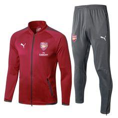 d878bf5c23d Arsenal F.C. Football club Puma 2017-18 Pre-Match Replica TRAINING Zip  Casual TOPS TRACKSUIT FÚTBOL CALCIO SOCCER FUSSBALL BNWT Men s Jogging  Tracksuit Zip ...
