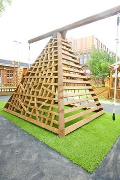 Lovely Diy Playground Design Ideas To Make Your Kids Happy 32 Playground Design, Natural Playground, Backyard Playground, Backyard For Kids, Playground Ideas, Wood Playground, Toddler Playground, Backyard Ideas, Outdoor Play Spaces