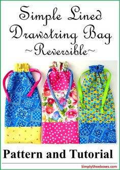 Sewing Ideas For Kids Drawstring bag pattern perfect for packing in Operation Christmas Child Shoeboxes. - We use a lot of handmade drawstring bags in our Operation Christmas Child shoeboxes and I am always looking for an easier way to sew the. Drawstring Bag Diy, Drawstring Bag Pattern, Drawstring Bag Tutorials, Pouch Pattern, Corset Pattern, Christmas Child Shoebox Ideas, Operation Christmas Child Shoebox, Kids Christmas, Christmas Boxes