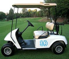 monogrammed golf cart - Words from Wimberly