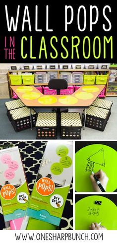 Different colors for different group tables: Guided reading organization and dry erase Wall Pops help make guided reading and guided math time simple! So many ways to use these Wall Pops in the classroom! Classroom Hacks, 4th Grade Classroom, Classroom Setup, Classroom Design, Kindergarten Classroom, Future Classroom, Reading Intervention Classroom, Math Classroom Decorations, Classroom Wall Decor