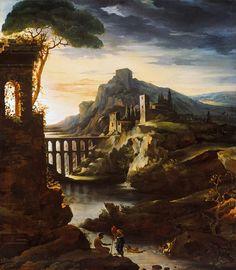 Теодор Жерико - Вечер: Пейзаж с акведука. часть 3 Музей Метрополитен