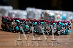 Maroon and Tourquoise MGM Bracelet