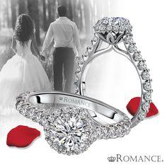 #LoveMyRomance #HaloRing 117830. See more halo designs at lovemyromance.com