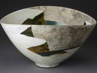 "Wayne Higby, ""Josiah's Canyon, Winter"" 1979, glaze, earthenware, 11.25 x 20.5 x 16""."