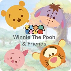 Krafty Nook: Tsum Tsum - Winnie the Pooh and Friends Fan Art