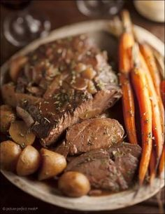 Sunday-Best Pot Roast - slow cooked in wine and stock until meltingly tender. Perfect with mashed potatoes. by esmeralda