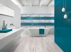 Kék színű falicsempék | Forgács Csempeház - Csorna Modern Bathroom Decor, Modern Decor, Color Tile, Entryway Tables, Bathtub, Luxury, Home, Design, Bathrooms
