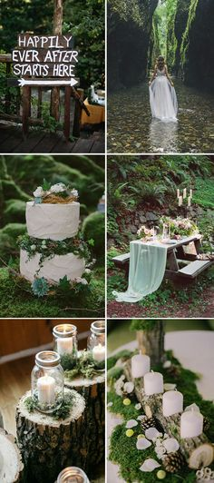 2017 full greenery woodland wedding themes trends forest wedding 36 Stunning Non-Floral Wedding Centerpieces Ideas Woodland Theme Wedding, Rustic Wedding, Forest Wedding Cakes, Forest Wedding Decorations, Wood Themed Wedding, Boho Wedding, Wedding Destination, Wedding Planning, Wedding Ideas