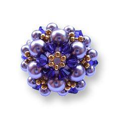 Diagrama de cuentas anillo N º 0, Pearl anillos, Patrones (gratis)