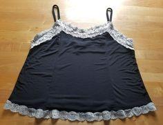 LANE BRYANT SZ 14/16 BLACK WITH WHITE LACE CAMISOLE PLUS SIZE | Clothing, Shoes & Accessories, Women's Clothing, Intimates & Sleep | eBay!
