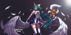 Star Guardian Soraka by 刷子凌 HD Wallpaper Background Fan Art Artwork League of Legends lol