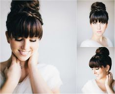 Wedding Hairstyle - Top 10 Most Beautiful Wedding Hairstyle For those who are going to get married in New Hairstyle Trends. For the bride of New Hairstyle Trends here is a collection of the most beautiful hai. New Braided Hairstyles, Classic Hairstyles, Bride Hairstyles, Hairstyles With Bangs, Trendy Hairstyles, Wedding Hair Up, Bridal Hair, Hairstyle Wedding, Braided Top Knots
