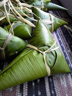 Chimaki : a rice dumpling wrapped in bamboo leaves