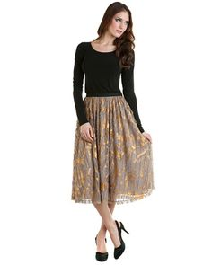 Mark + James by Badgley Mischka Gold Foiled Skirt $129