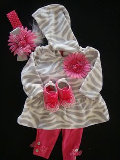 Baby girl outfit Hot pink with zebra stripes by BeBeBlingBoutique, $45.00