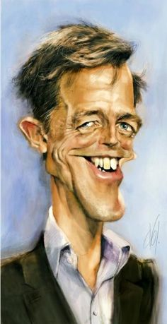 Hugh Grant, an illustration of Abj-Crayon , printed at wittygraphy