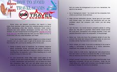 How to Avoid Travel Scams  Travel Scams are rampant nowadays that reports in these cases have reached wider scope from underdeveloped countries in Africa, developing cities like Jakarta, Indonesia, Kuala Lumpur, Malaysia and even already developed countries and states like America. As your trusted travel consulting partner, Westhill Consulting Travel and Tours has listed some tips that you may follow on how to avoid scams and any other fraudulent acts there.