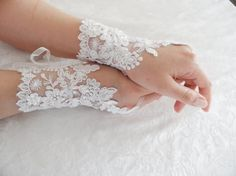 Wedding Gloves ivory lace gloves collar Fingerless by WEDDINGHome, $39.00