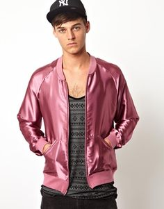Mens Pink Jacket - Coat Nj