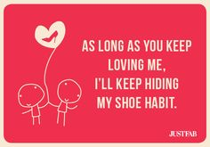 For the shoe addicts: Send a Valentine's Day e-card showing love for your honey...and shoes.