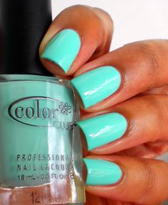 Color Club - Blue Ming  My new favorite color! Neon Tiffany blue! Everyone must own this!