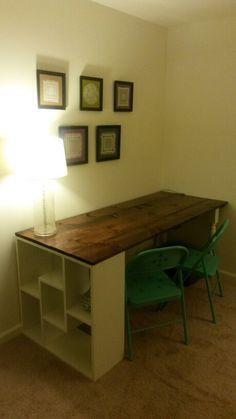 Our homemade desk!!!!
